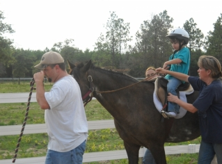 Nicholas grabbing the reins on Solomon